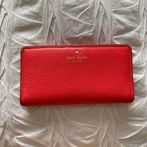 Kate Spade Lipstick Pink Wallet